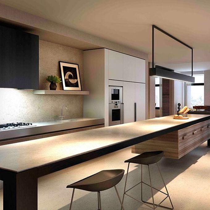 20 Modern Kitchen Island Designs: 使い勝手もいい対面キッチン|海外の実例9選!