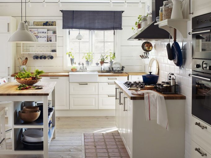 wonderful-white-country-traditional-kitchen-ideas-with-kitchen-appliances-and-vintage-blind-kitchen-window
